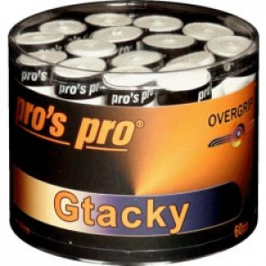Overgrip Pros Pro GTacky Bianco 60 pieces